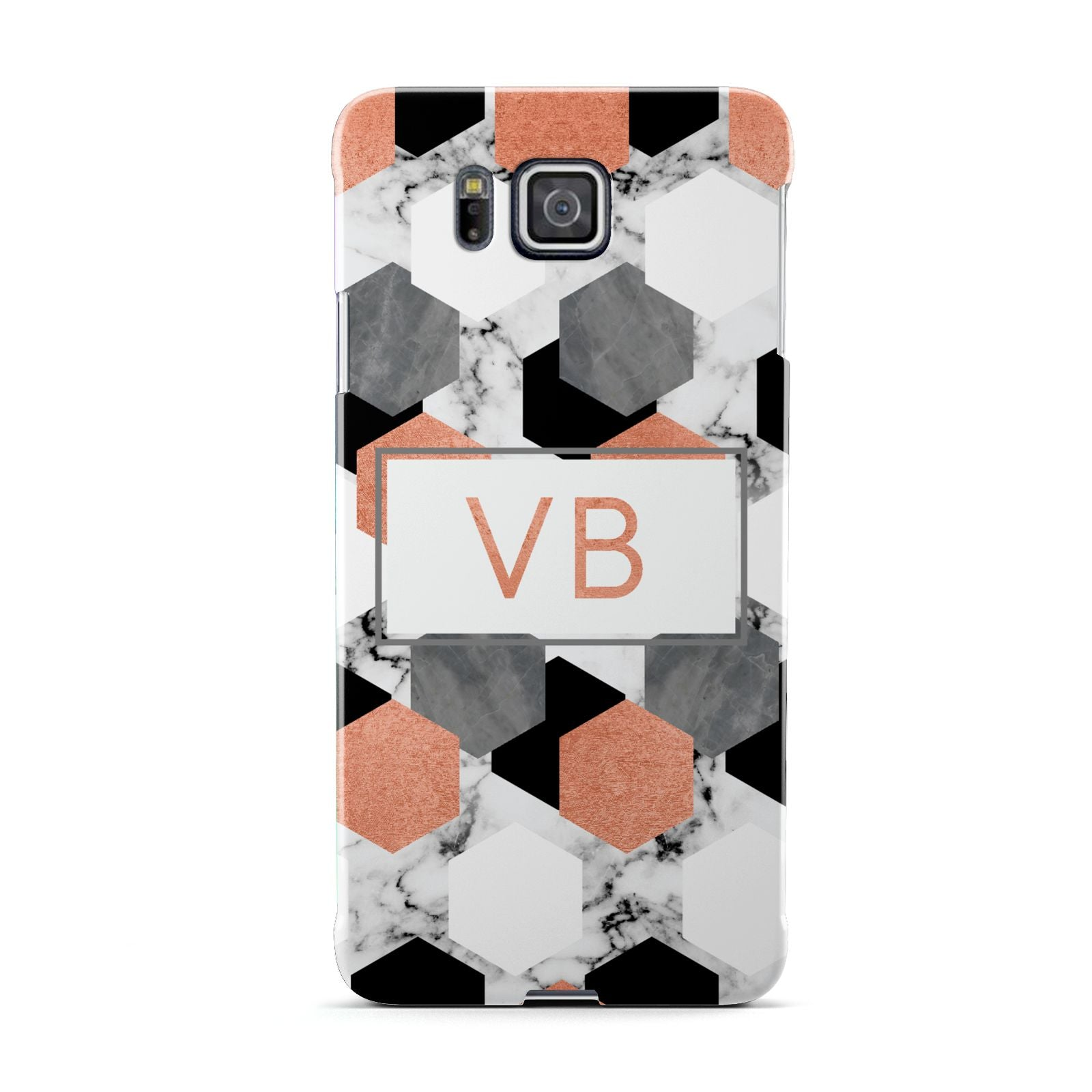 Personalised Initials Copper Marble Samsung Galaxy Alpha Case