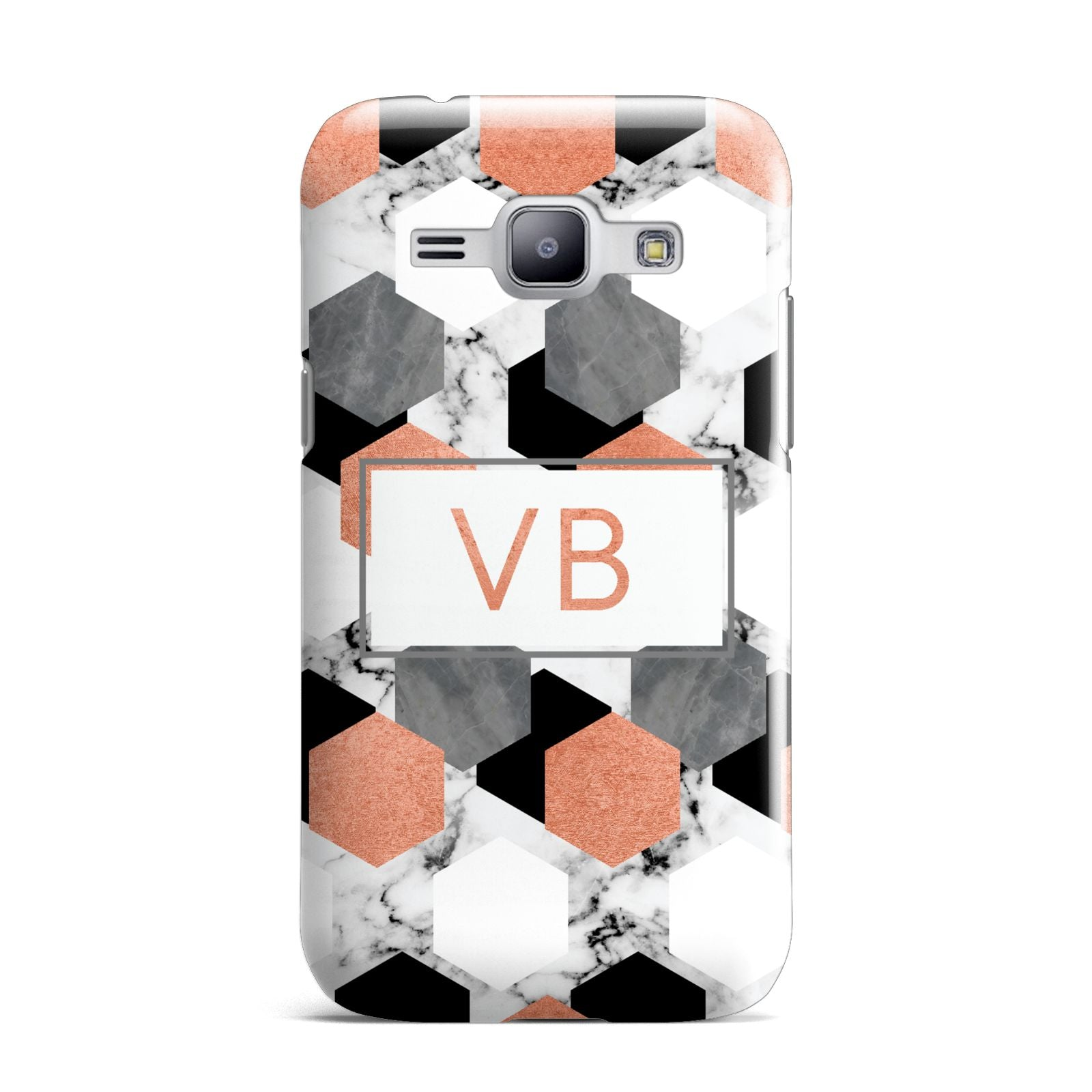 Personalised Initials Copper Marble Samsung Galaxy J1 2015 Case