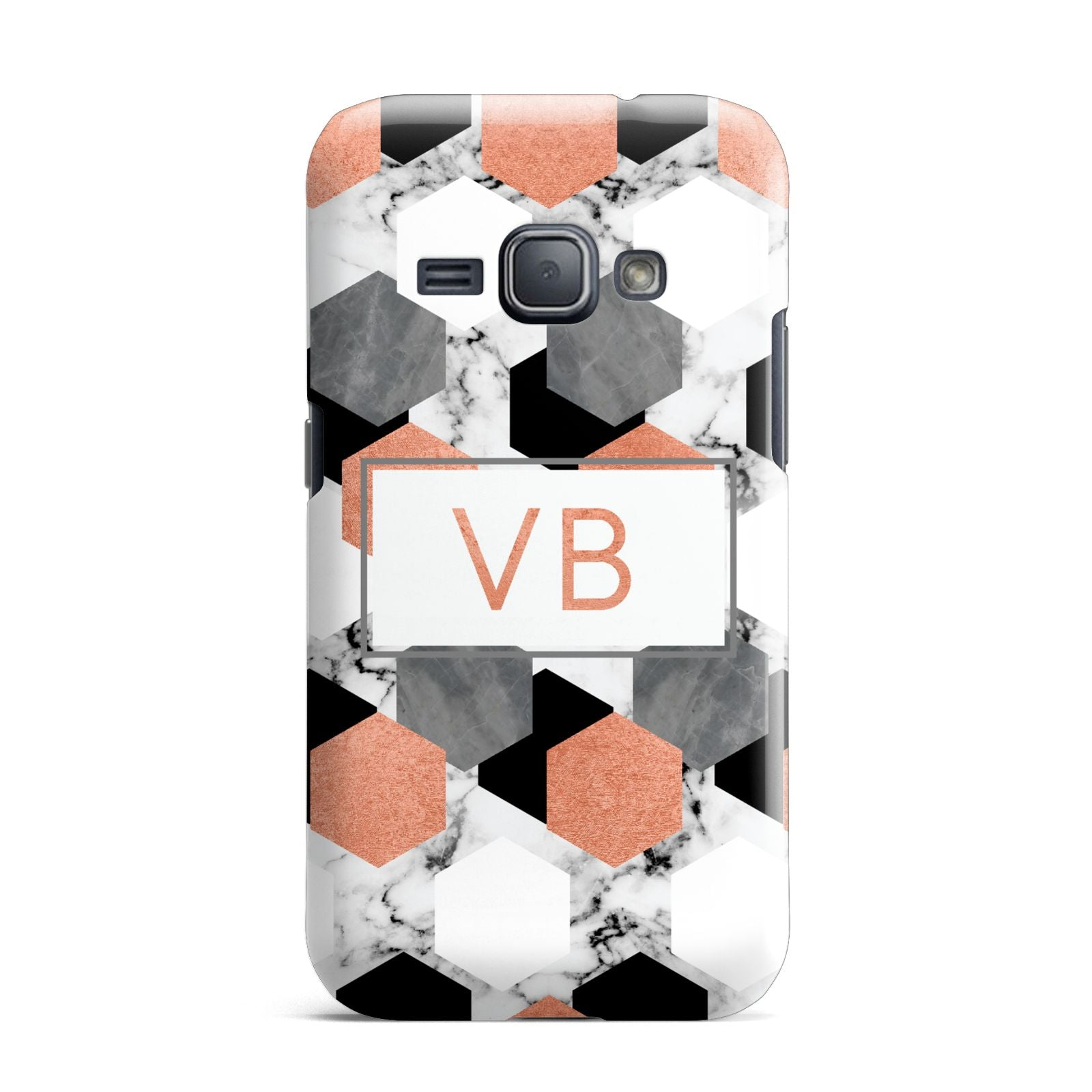 Personalised Initials Copper Marble Samsung Galaxy J1 2016 Case