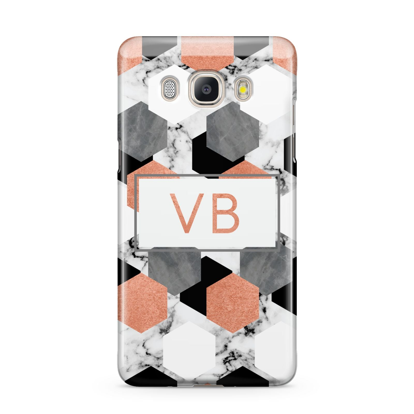 Personalised Initials Copper Marble Samsung Galaxy J5 2016 Case