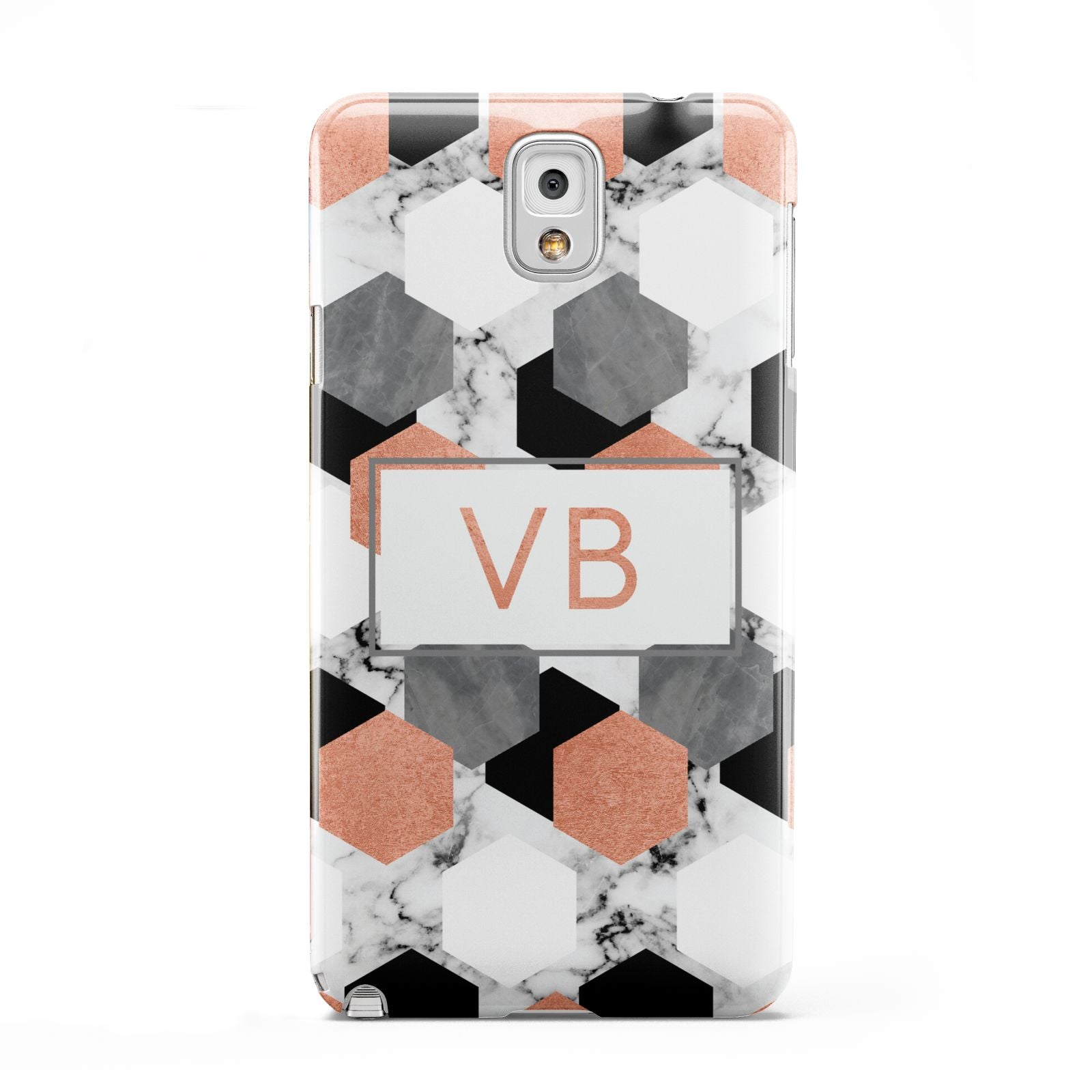 Personalised Initials Copper Marble Samsung Galaxy Note 3 Case