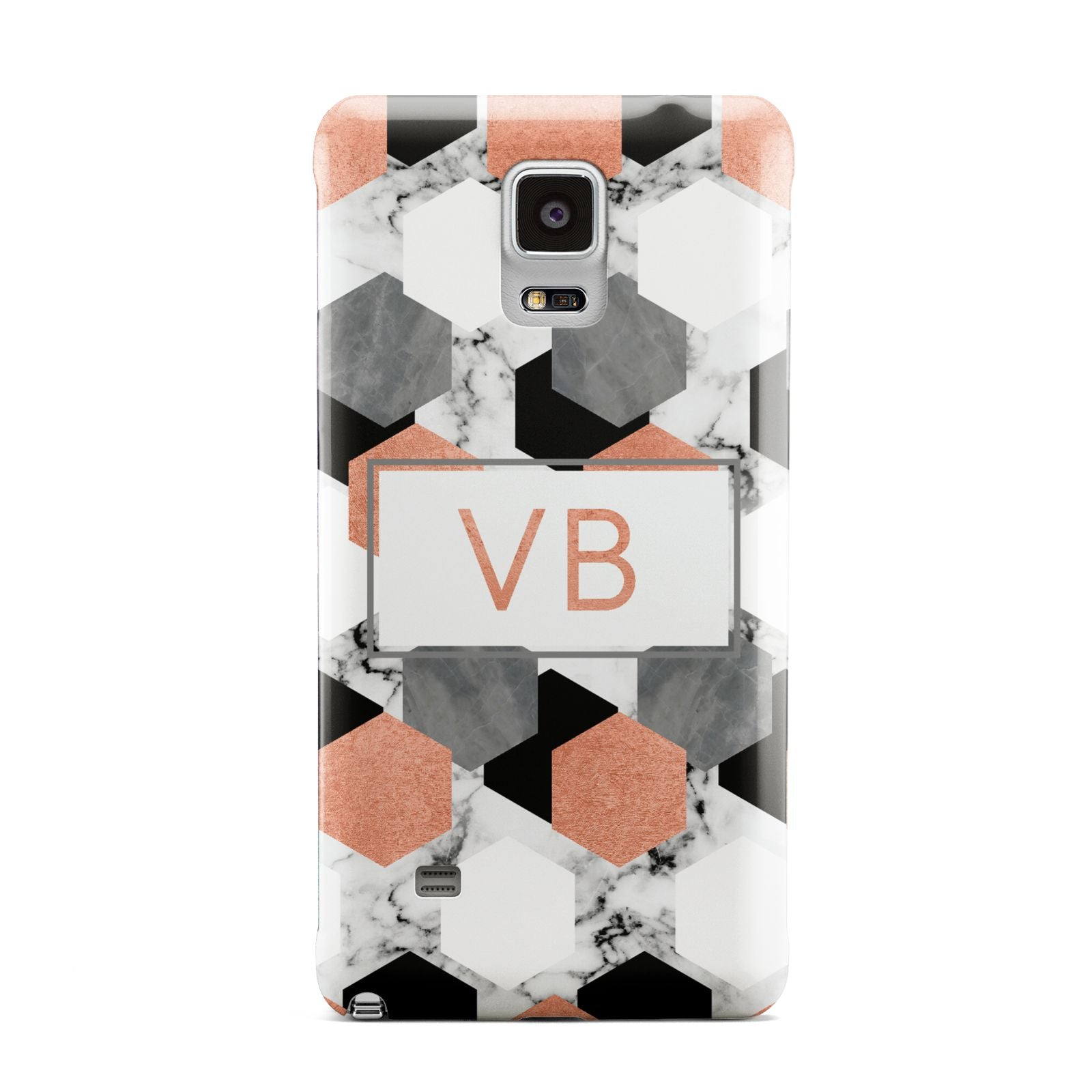 Personalised Initials Copper Marble Samsung Galaxy Note 4 Case