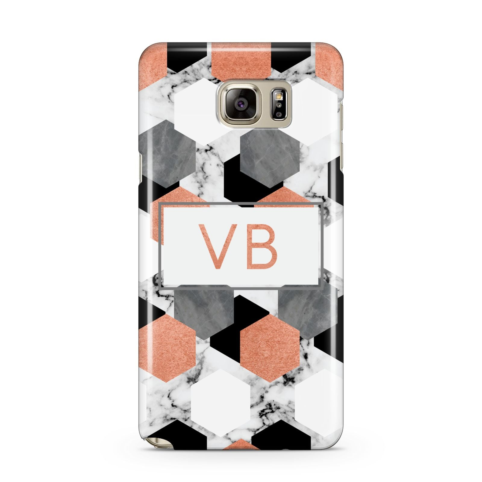 Personalised Initials Copper Marble Samsung Galaxy Note 5 Case