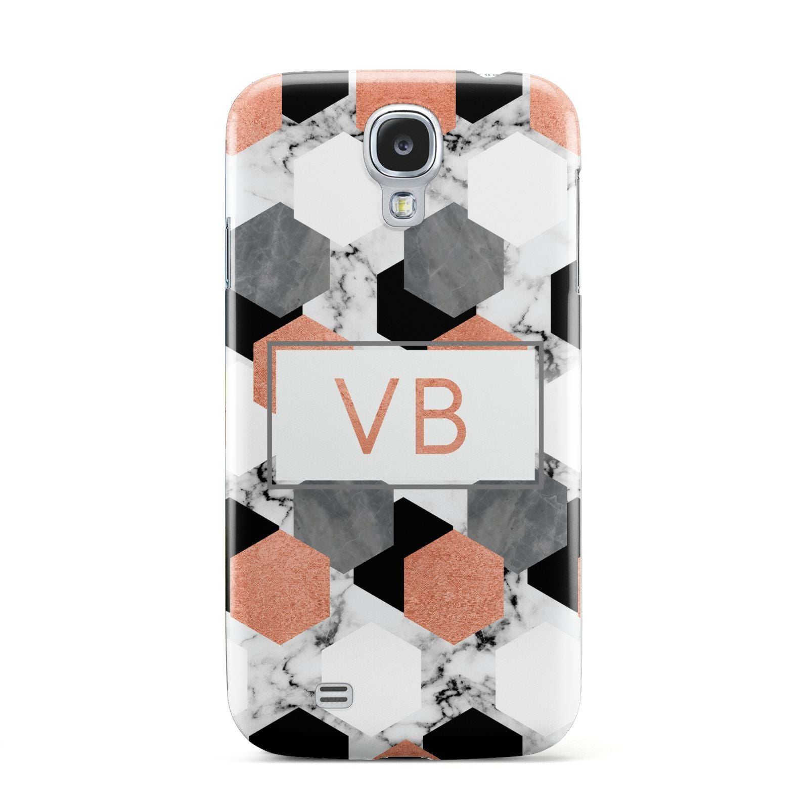 Personalised Initials Copper Marble Samsung Galaxy S4 Case