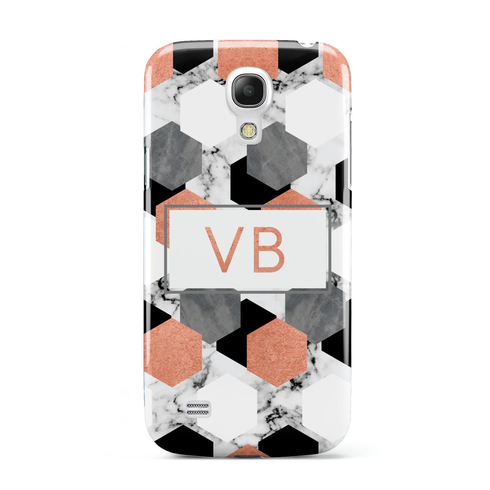 Personalised Initials Copper Marble Samsung Galaxy S4 Mini Case