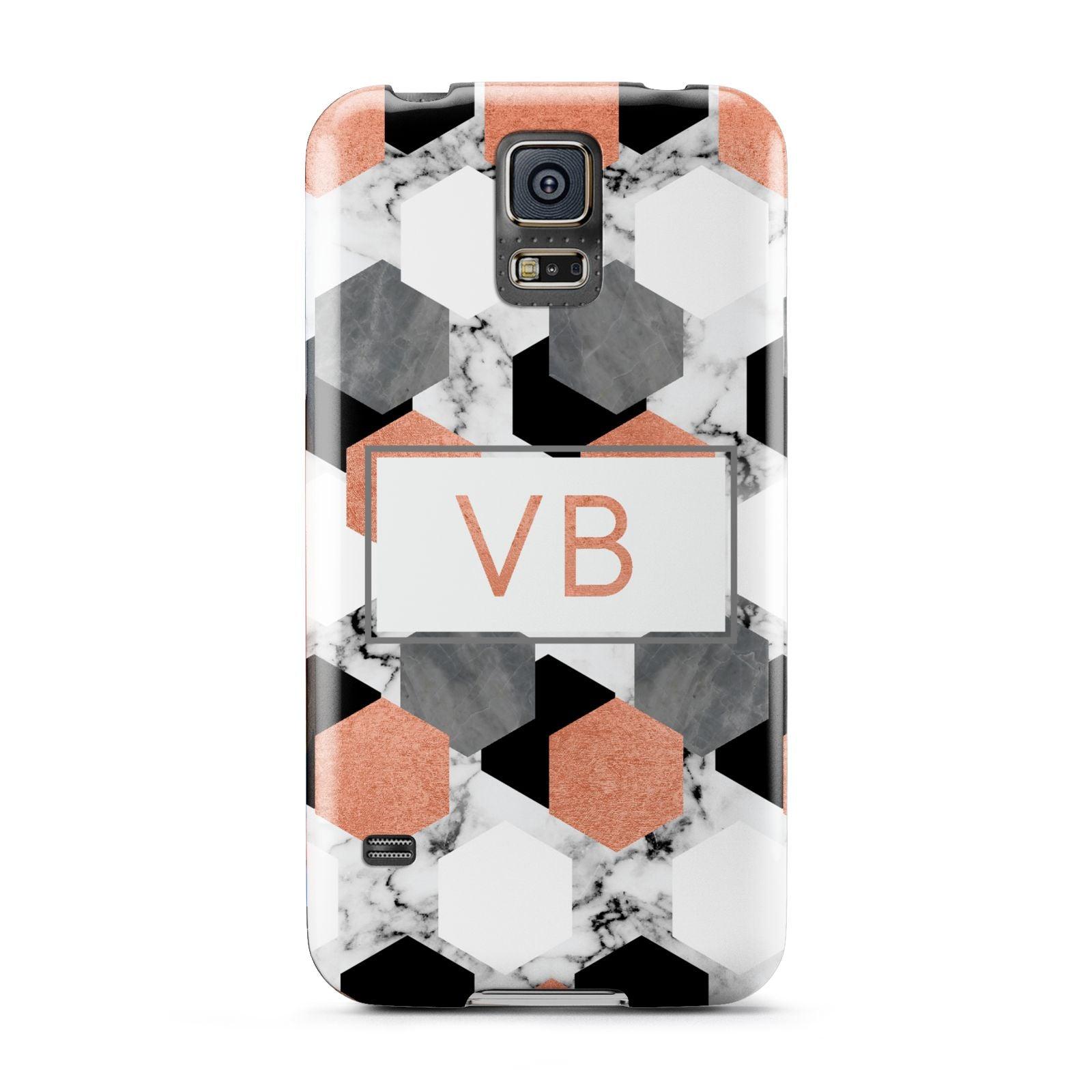 Personalised Initials Copper Marble Samsung Galaxy S5 Case