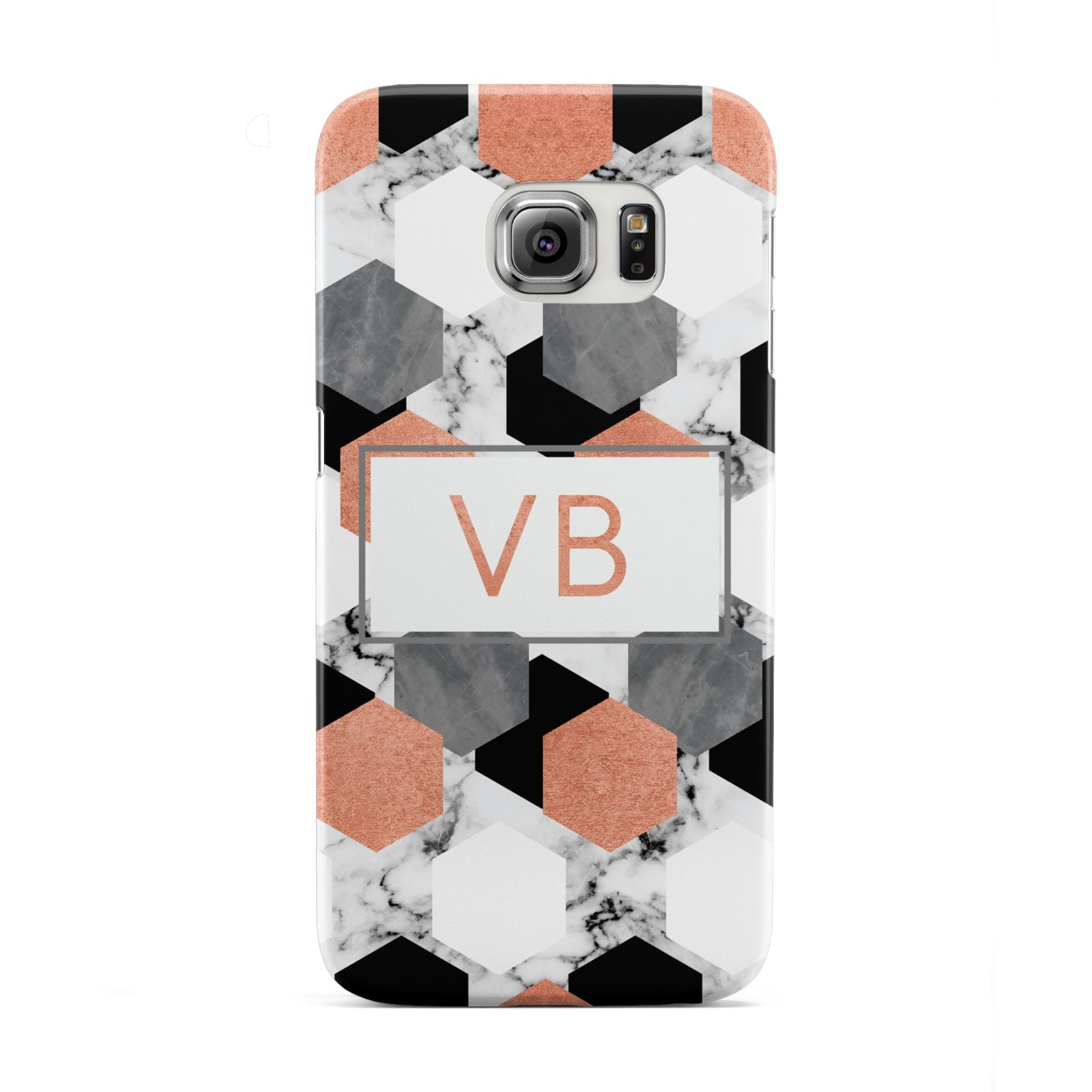 Personalised Initials Copper Marble Samsung Galaxy S6 Edge Case