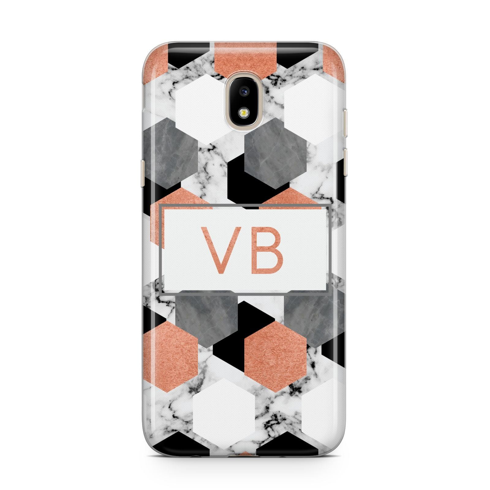 Personalised Initials Copper Marble Samsung J5 2017 Case