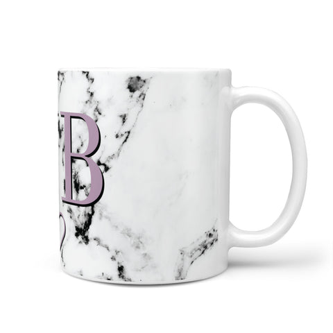 Personalised Initials Love Heart Marble Mug