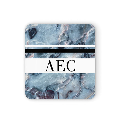 Personalised Initials Marble 9 Coasters set of 4