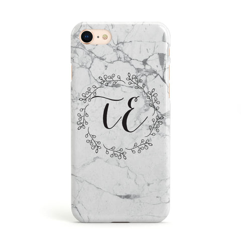 Personalised Initials Marble Apple iPhone Case