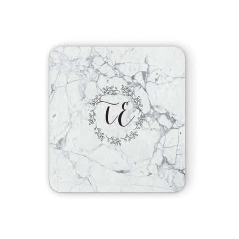 Personalised Initials Marble Coasters set of 4