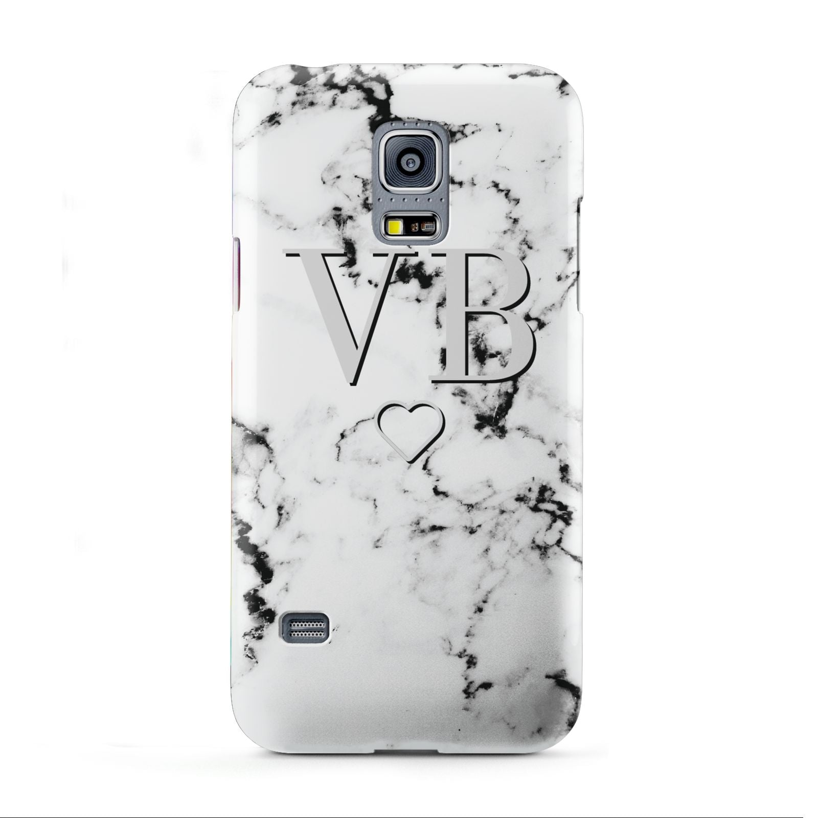 Personalised Initials Outline Heart Marble Samsung Galaxy S5 Mini Case
