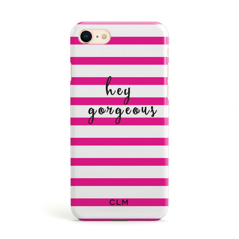 Personalised Pink Hey Gorgeous Apple iPhone Case