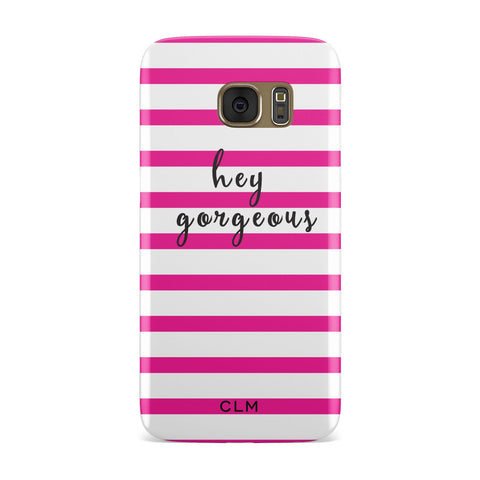 Personalised Pink Hey Gorgeous Samsung Galaxy Case
