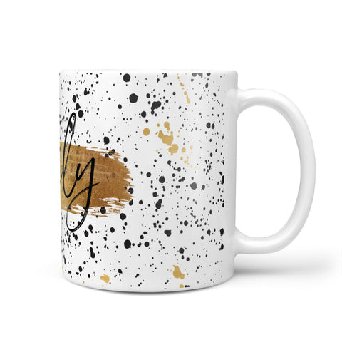 Personalised Ink Splatter Gold Mug