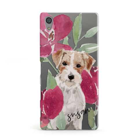 Personalised Jack Russel Sony Case