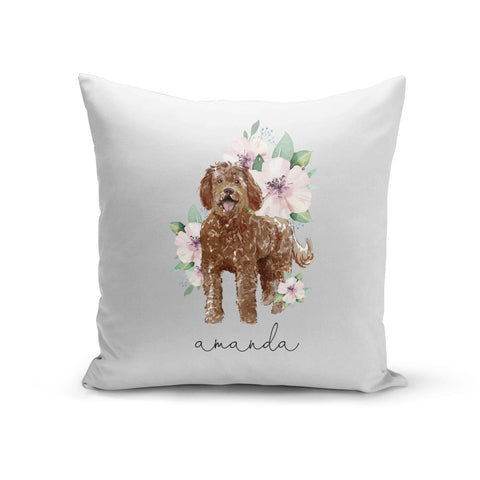 Personalised Labradoodle Cushion