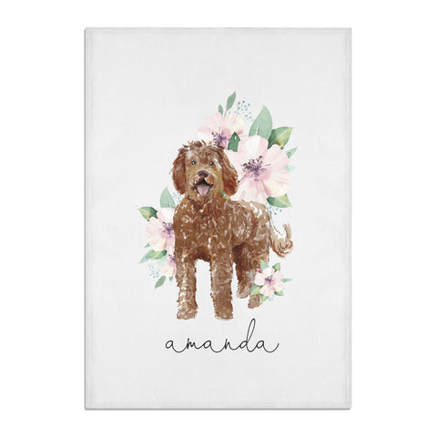 Personalised Labradoodle Tea Towel