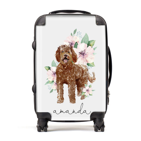 Personalised Labradoodle Suitcase