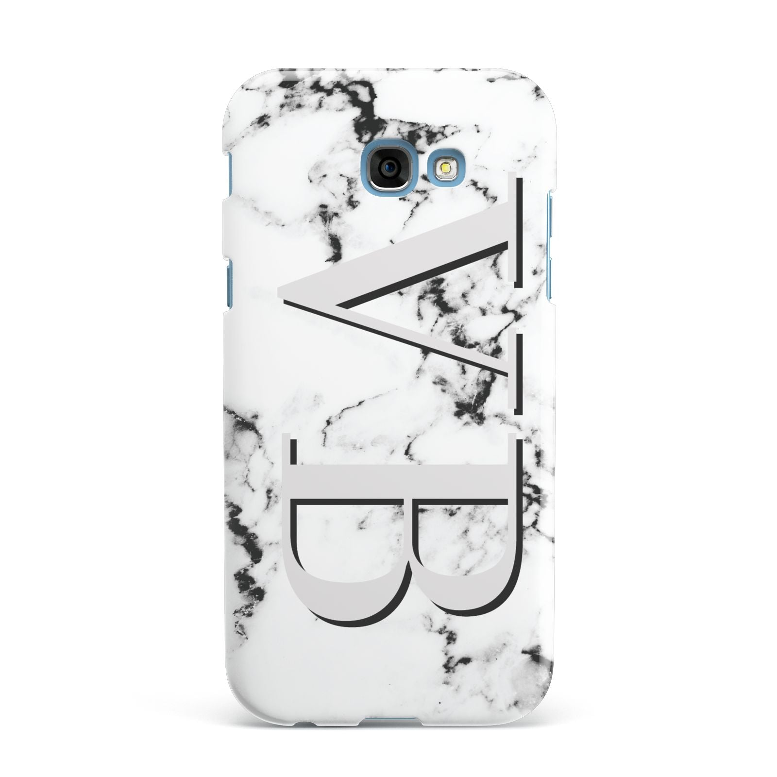 Personalised Landscape Initials With Marble Samsung Galaxy A7 2017 Case