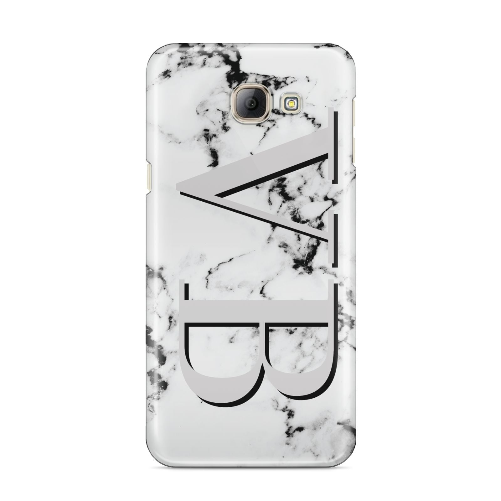 Personalised Landscape Initials With Marble Samsung Galaxy A8 2016 Case