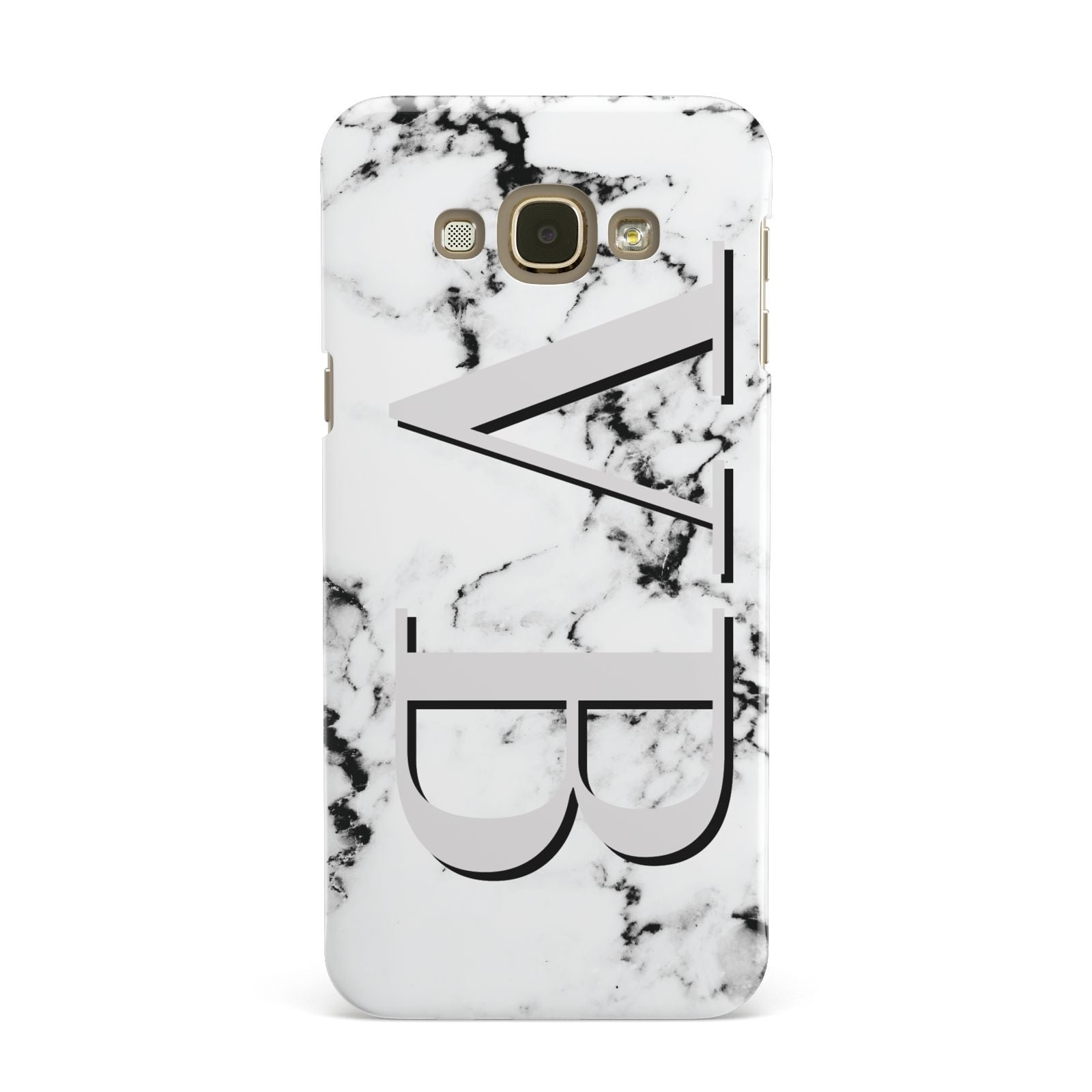 Personalised Landscape Initials With Marble Samsung Galaxy A8 Case