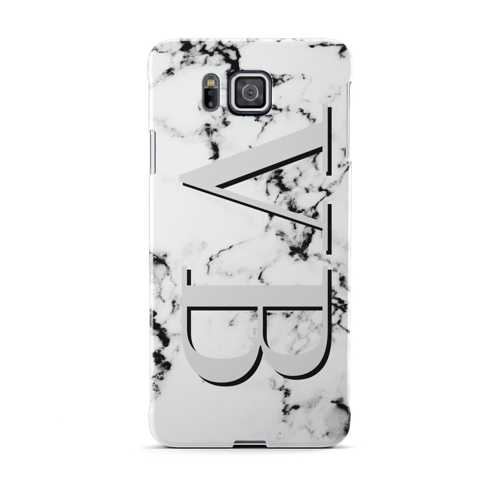 Personalised Landscape Initials With Marble Samsung Galaxy Alpha Case