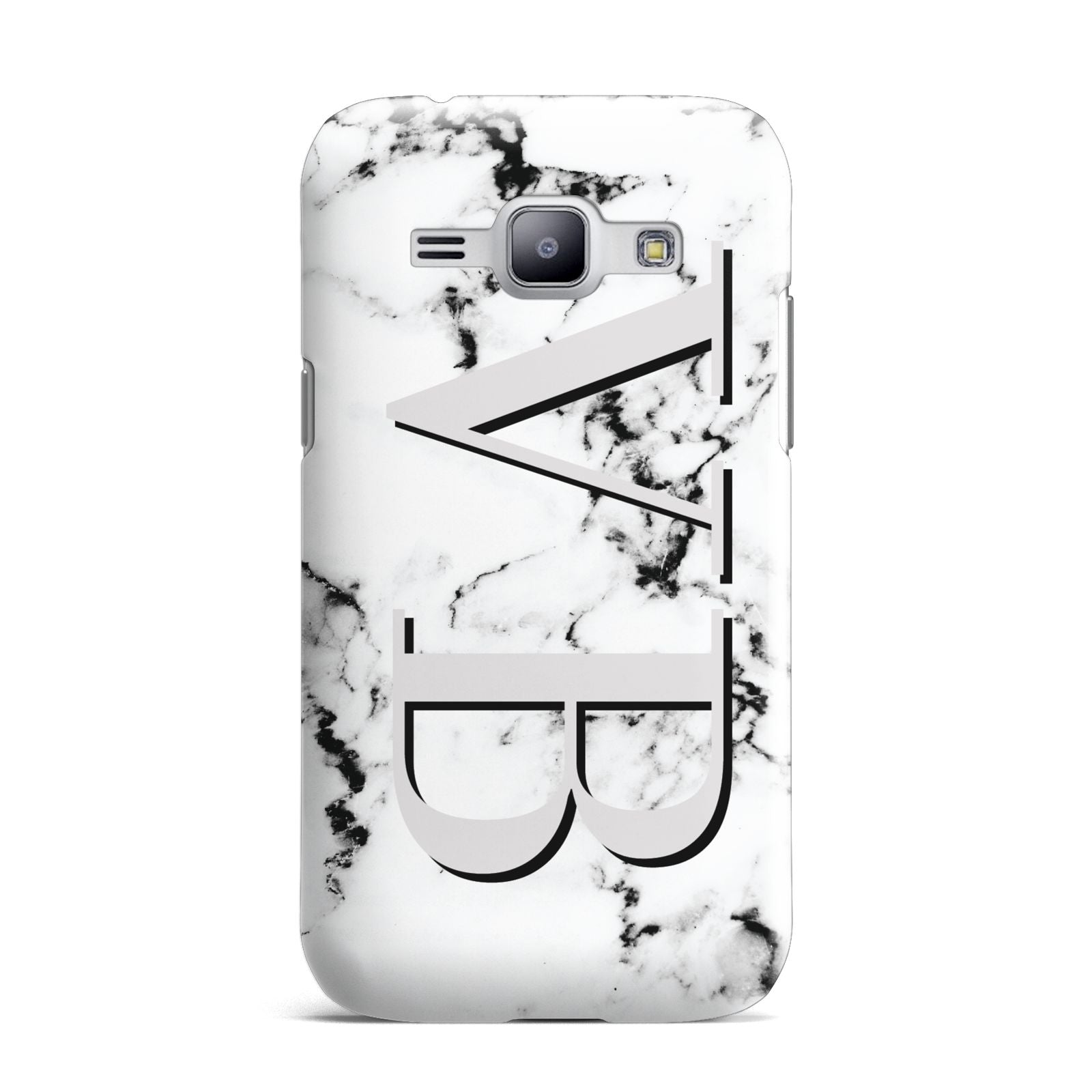 Personalised Landscape Initials With Marble Samsung Galaxy J1 2015 Case