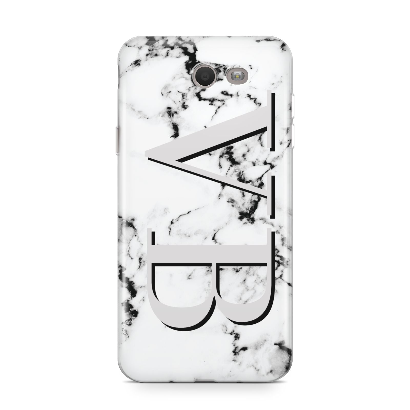 Personalised Landscape Initials With Marble Samsung Galaxy J7 2017 Case