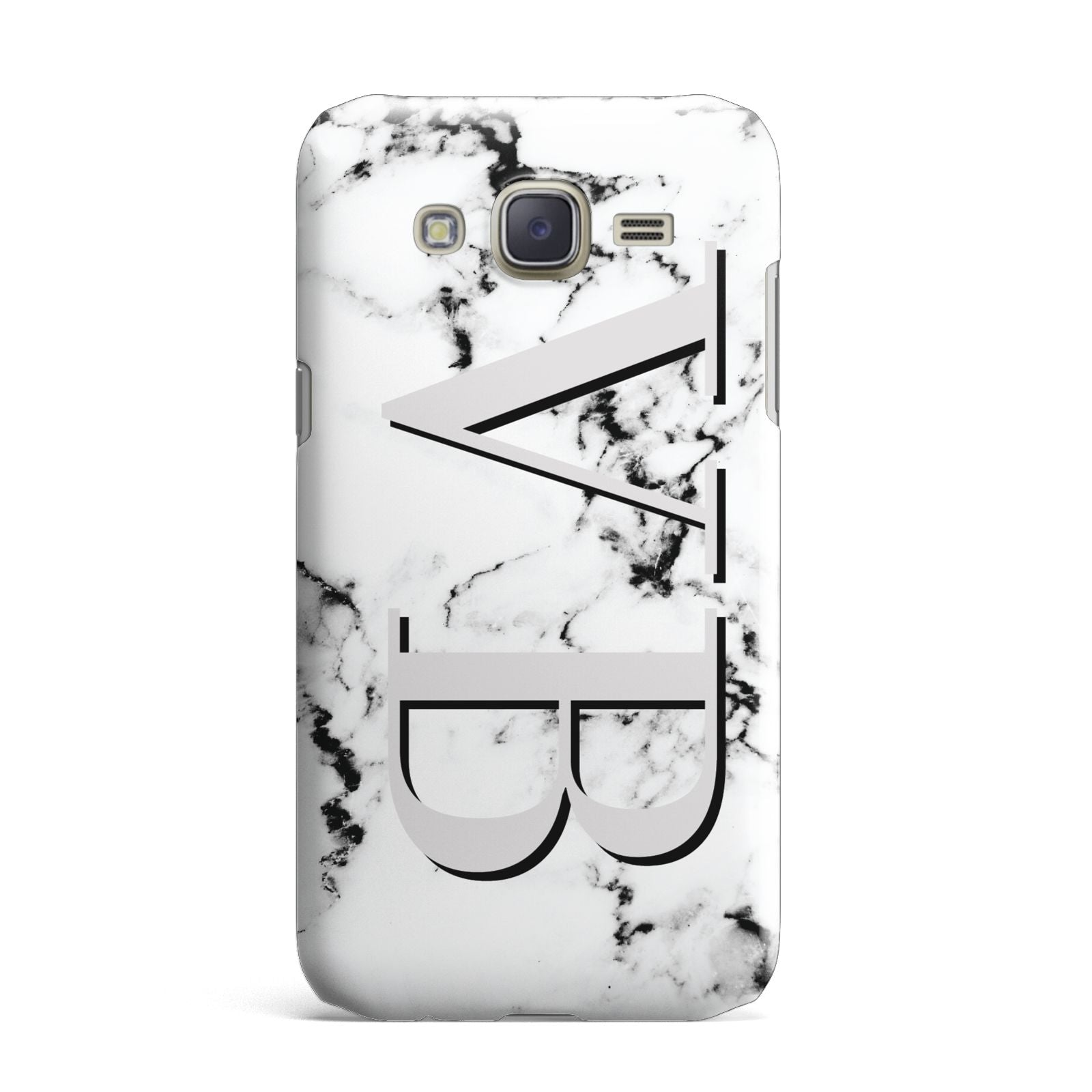 Personalised Landscape Initials With Marble Samsung Galaxy J7 Case