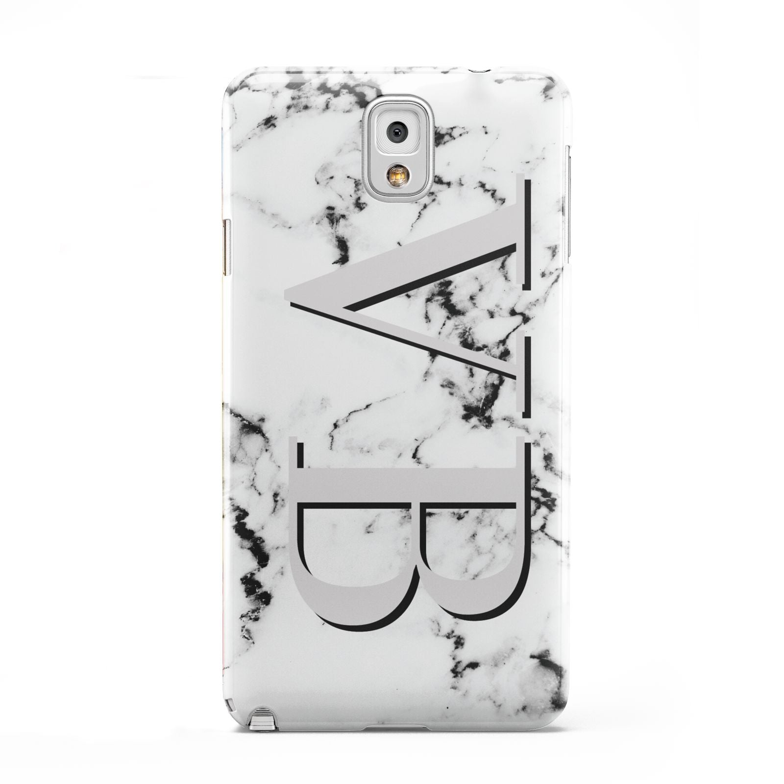 Personalised Landscape Initials With Marble Samsung Galaxy Note 3 Case