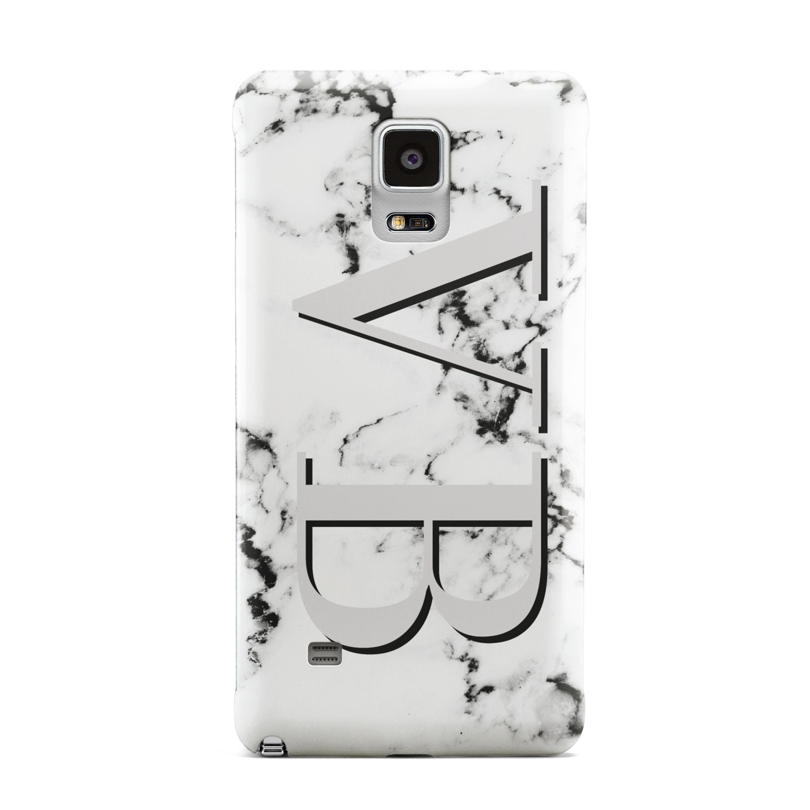 Personalised Landscape Initials With Marble Samsung Galaxy Note 4 Case