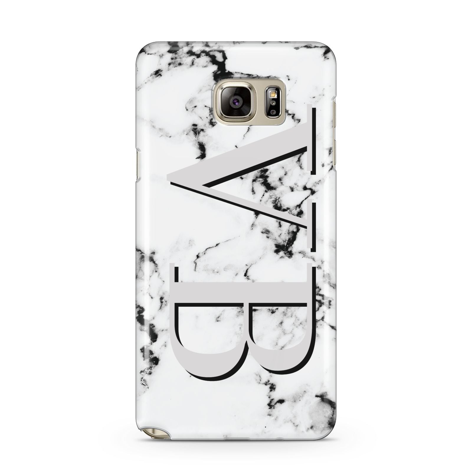 Personalised Landscape Initials With Marble Samsung Galaxy Note 5 Case