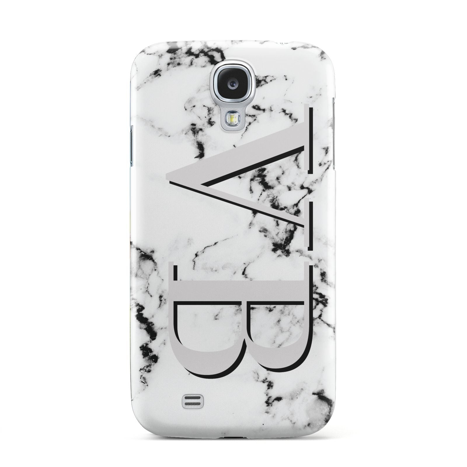Personalised Landscape Initials With Marble Samsung Galaxy S4 Case