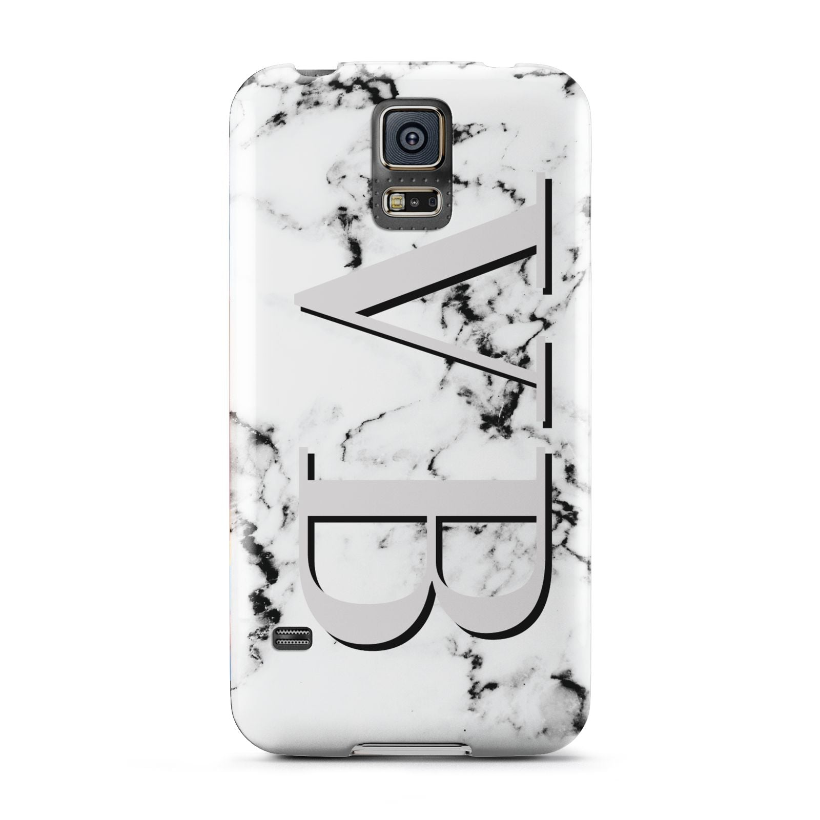 Personalised Landscape Initials With Marble Samsung Galaxy S5 Case