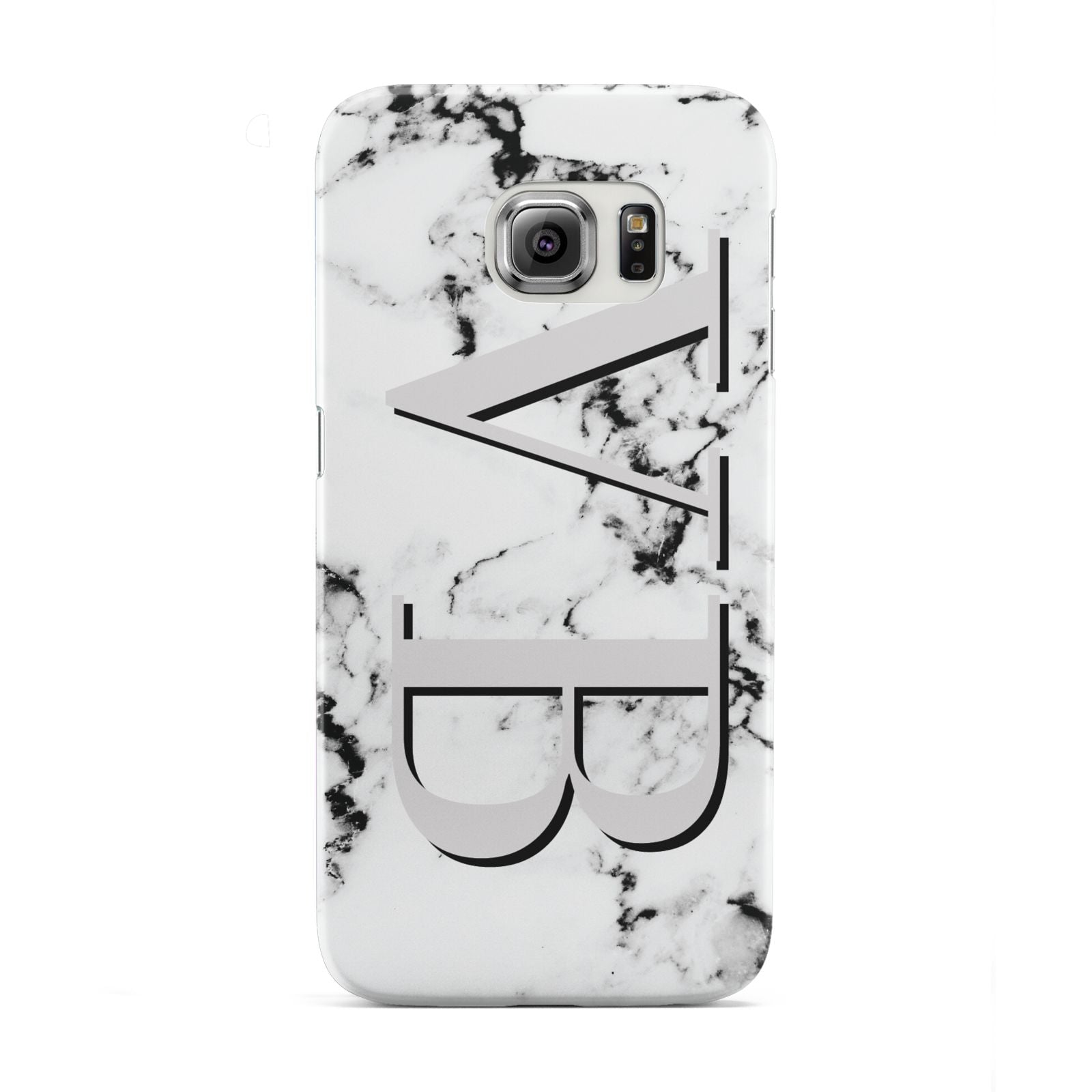 Personalised Landscape Initials With Marble Samsung Galaxy S6 Edge Case