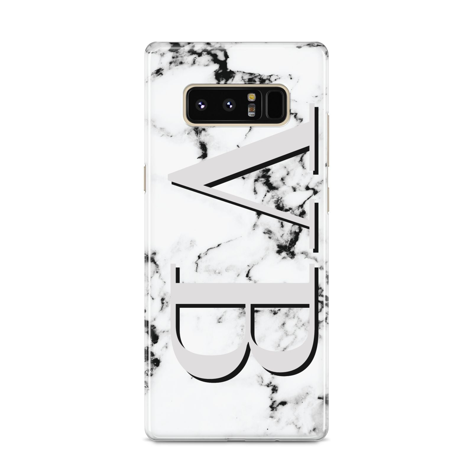 Personalised Landscape Initials With Marble Samsung Galaxy S8 Case