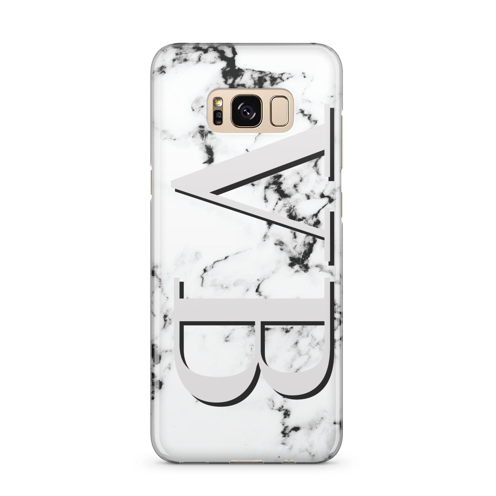 Personalised Landscape Initials With Marble Samsung Galaxy S8 Plus Case