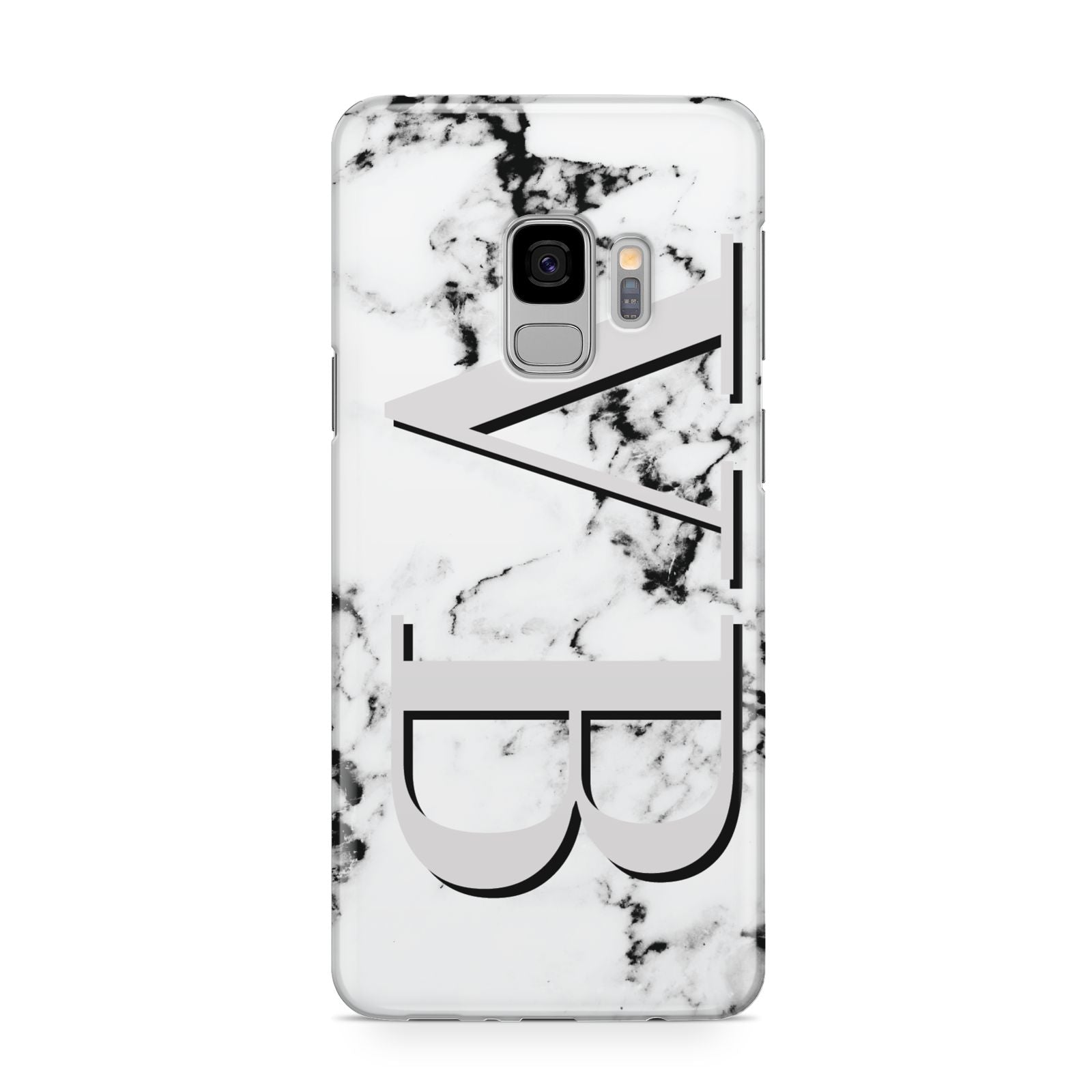 Personalised Landscape Initials With Marble Samsung Galaxy S9 Case