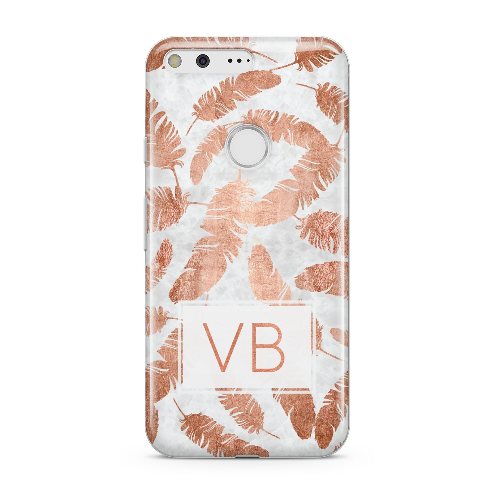 Personalised Leaf Marble Initials Google Pixel Case