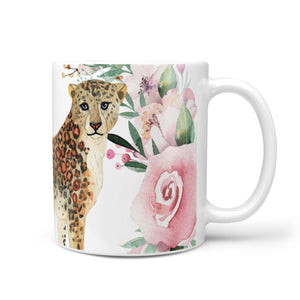 Personalised Leopard 10oz Mug