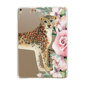 Personalised Leopard Apple iPad Gold Case