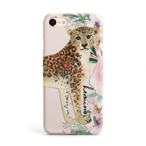 Personalised Leopard iPhone Case