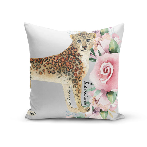 Personalised Leopard Cushion