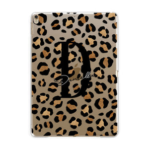 Personalised Leopard Print Apple iPad Gold Case