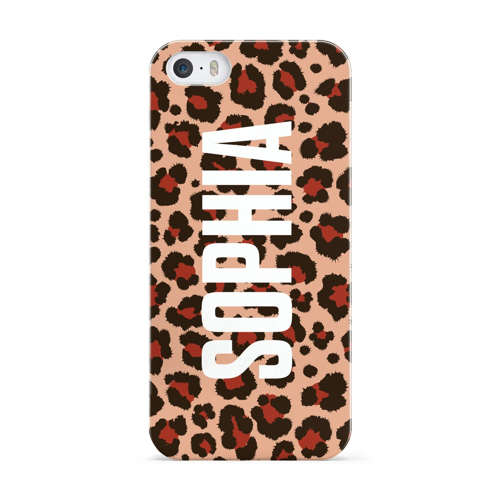 Personalised Leopard Print Name Apple iPhone 5 Case
