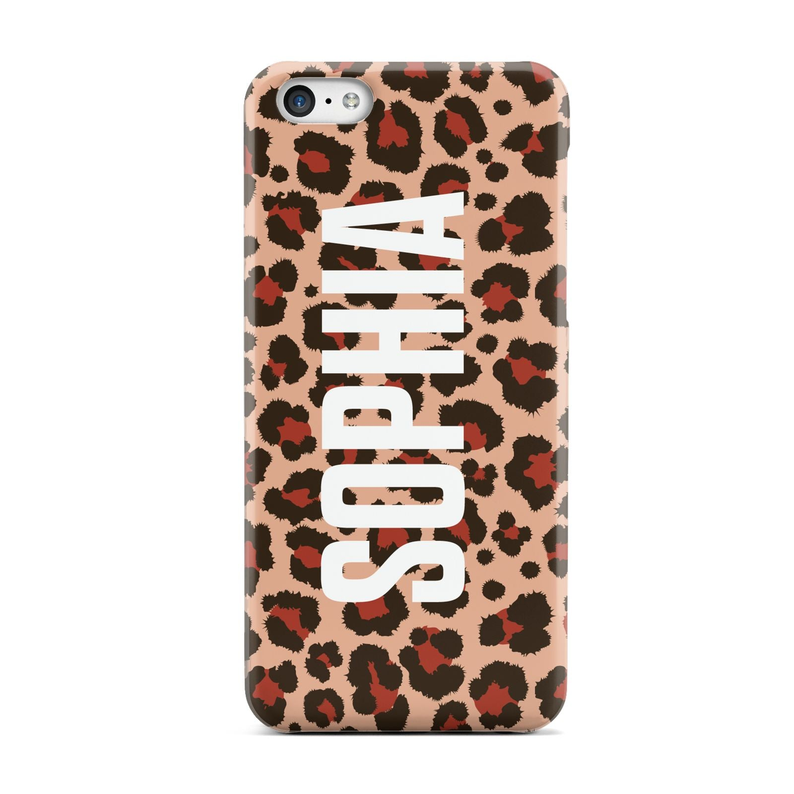 Personalised Leopard Print Name Apple iPhone 5c Case