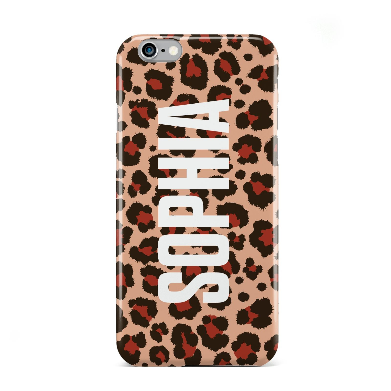 Personalised Leopard Print Name Apple iPhone 6 Case