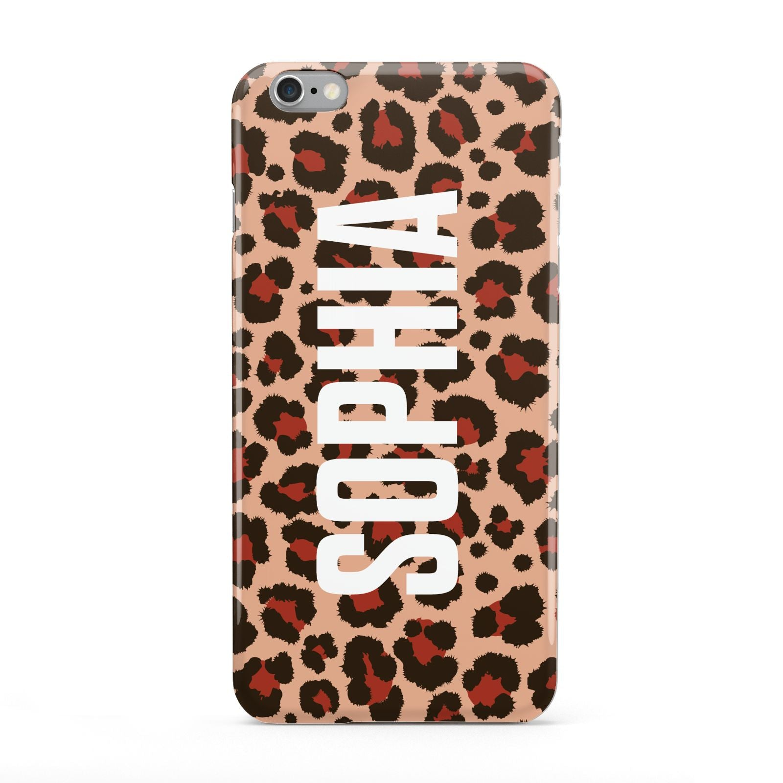 Personalised Leopard Print Name Apple iPhone 6 Plus Case